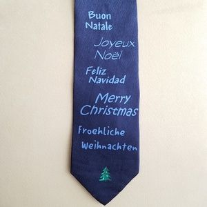 Ugly Christmas Silk Neck Tie by Neck Art